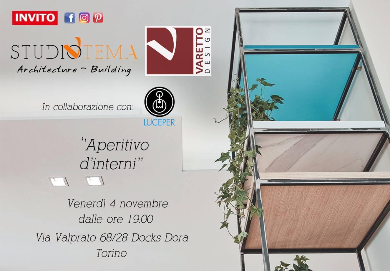 Aperitivo d'interni - Venerdì 4 novembre - Via Valprato 68/28 Docks Dora Torino